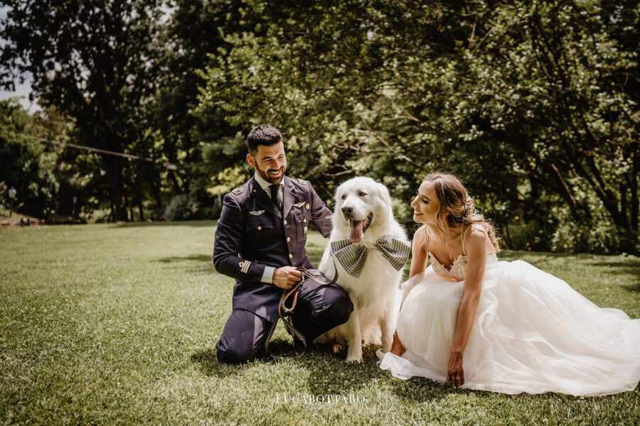 PASTORE MAREMMANO DOG WEDDING INVITED